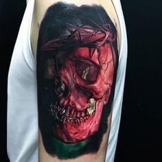 125 Best Skull Tattoos For Men: Cool Designs + Ideas (2021 Guide) Bird Tattoos Arm, Army Tattoos, Skull Tattoos, Black Tattoos, Mother Daughter Tattoos, Tattoos For Daughters, Tattoos For Guys, Geometric Tattoo Design, Skull Tattoo Design