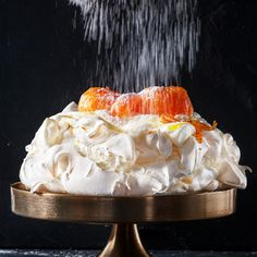 Top your glorious pavlova with sticky toffee Clemengolds Fancy Desserts, Gluten Free Desserts, Pudding Desserts, Dessert Recipes, Egg Recipes, Sticky Toffee, Gourmet Recipes, Gourmet Foods, Lemon Curd