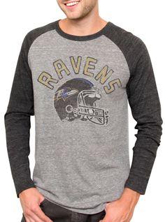 5bbba3bcc NFL Baltimore Ravens Vintage Inspired Long Sleeve Raglan - Men s  Collections - NFL - All - Junk Food Clothing ( 42)