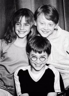 Harry, Ron and Hermione -- the early days