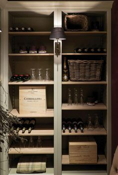 Neptune Living Fitted Storage - Pembroke Fitted Storage - discrete wine closet for bedroom Wine Cabinets, Wine Storage, Storage Spaces, Storage Ideas, Living Room Designs, Shelving, New Homes, House Design, Interior Design