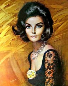 My favorite Shabner painting. She is known as Nichola. Vintage Prints, Vintage Art, Vintage Ladies, Kitsch Art, 60s Art, Reproduction, Large Canvas, Woman Painting, Woman Face