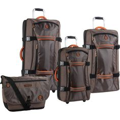 Timberland Luggage Twin Mountain 4 Piece Wheeled Duffle Set, Cocoa, One Size - http://www.freecycleusa.com/product/timberland-luggage-twin-mountain-4-piece-wheeled-duffle-set-cocoa-one-size/