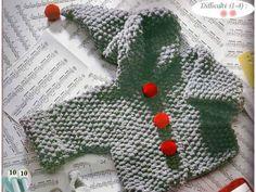 Modèle tricot layette : manteau Do-ré-mi chez Astula