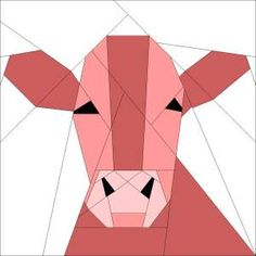 Paper pieced cow   favorite paper piecing method, or download my freezer paper piecing ...