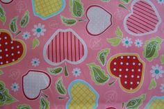 Riley Blake Apple of My Eye Apfel Äpfel Punkte Karos Retro Landhaus Blumen rosa