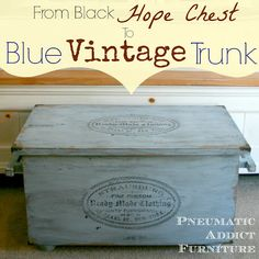 From Black Hope Chest to Blue Vintage Trunk
