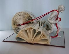 Book sculptures by Daniel Lai Paper Mache Projects, Book Projects, Paper Crafts, Folded Book Art, Book Folding, Crafts For Teens, Arts And Crafts, Recycled Books, Deep Art
