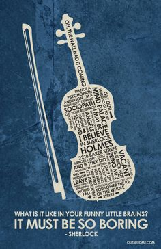 BBC Sherlock violin Inspired Quote Poster by OutNerdMe on Etsy