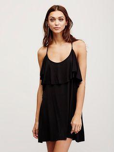 Zhenya Katava || FP Beach Alexa Halter Mini Dress (Black)