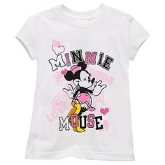 Collegiate Minnie Mouse Tee for Girls -- Made With Organic Cotton  $6.99