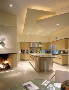Nice Kitchenette, Ceiling Design, Kitchen Lighting, Modern Contemporary, Home Kitchens, Home Improvement, Sweet Home, Inspiration, Kitchen Ideas