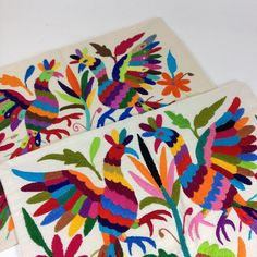 Otomi Hand Embroidered Pillow Covers, Multi-Colors