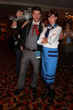 Bioshock infinite cosplay - Booker DeWitt and Elizabeth. Bioshock Cosplay, Bioshock Infinite, Dresses, Style, Fashion, Vestidos, Swag, Moda, Fashion Styles