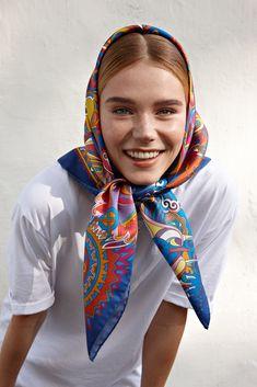 """Silk scarf """"Ivan da Marya"""" Шелковый платок «Иван-да-Марья» Silk Scarves, Silk Satin, Fashion, Headscarves, Moda, Fashion Styles, Fashion Illustrations"""