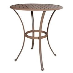 Shop for Panama Jack Island Breeze Slatted Espresso Aluminum 36-inch Round Pub Table. Get free shipping at Overstock.com - Your Online Garden & Patio Outlet Store! Get 5% in rewards with Club O! - 16350156