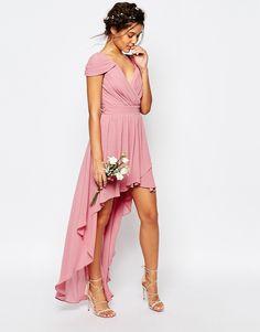 Image 4 - TFNC WEDDING - Robe asymétrique en mousseline