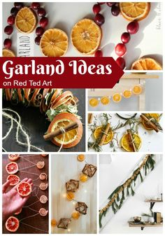 How to make DIY Dried Orange Garlands. If you love how to make dried orange slices, you will now be ready to put these together into a beautiful garland, Apple Garland, Diy Christmas Garland, Berry Garland, Diy Garland, Garlands, Christmas Crafts, Garland Ideas, Christmas Kitchen, Diy Wreath
