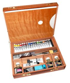 Daler-Rowney Deluxe Cryla Acrylics Wooden Box | Rex Art Supplies