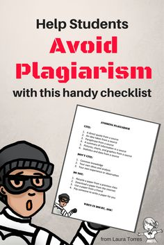 Help students avoid plagiarism!