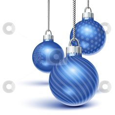 Vector of Blue christmas ornaments
