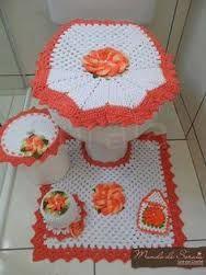 Resultado de imagen para juegos de baño tejidos a crochet con patrones