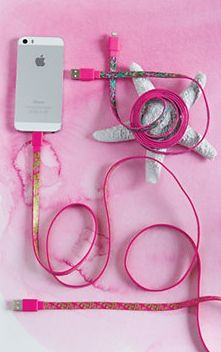 Lilly Pulitzer iPhone 5/5S & 6/6 Plus Charging Cord - hot pink & printed $18