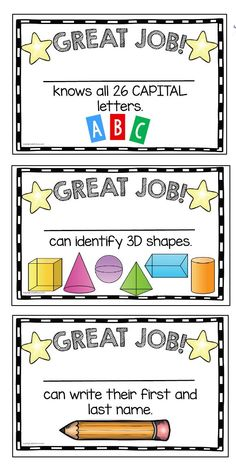 GOAL CHART for kindergarten - colorful and easy to print and use - motivation