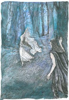 Лутиэн и Берен Luthiens Veil by Ephaistien on DeviantArt