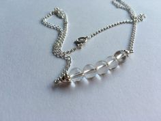 18 Inches 6mm Silver plated clear Quartz by MardeJoias on Etsy