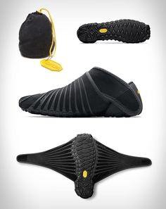 Furoshiki is the only sole on the market that wraps around the entire foot. Because the upper is constructed with stretch fabric, it will anatomically fit nicely on any foot type and the hook and loop closure system allows for a quick, easy fit. Powered by a revolutionary Vibram soling technolog