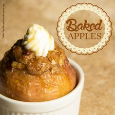 Baked Apples. Easy to make and absolutely delicious!