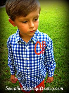 Boys Monogrammed Polo / Auburn or Florida by SewphisticatedGifts, $22.00
