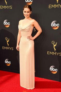 Emilia Clarke stuns in Atelier Versace at the 68th Annual Primetime Emmy Awards. #VersaceCelebrities