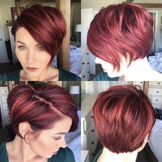 New hair! #pixie #bob #shorthair #redhair