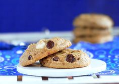 Healthy chocolate chip cookies, with chopped macadamia nuts and chocolate in every bite!