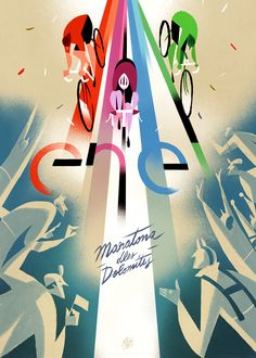 """30 posters created to commemorate the 30th anniversary of """"Maratona dles Dolomites"""""""