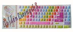 Amazon.com: Cute Desktop Laptop Computer Keyboard Stickers / Decals Cover Protector Large Letters (Rainbow): Computers & Accessories