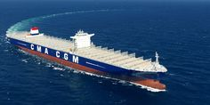 CMA CGM Marco Polo container ship.Largest Container vessel
