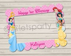 Digital file  DIY Disney Princesses Photo Booth by LetsPartyBH