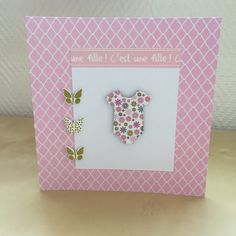 Carte de félicitations pour une naissance fille : Cartes par sab-and-paper