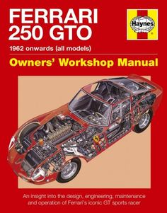 Ferrari 250 GTO l 1962 Onwards (All Models) €31,50 http://www.autonetcarbooks.com/ferrari-250-gto-1962-onwards-all-models-p-433569.html Ferrari's iconic 1960s 250 GTO is currently one of the most desirable and valuable cars in the world among collectors. Ferrari designed the 250 GTO purely for racing success, and the car dominated the GT category of sports car racing from 1962 to 1964 in events such as the Tour de France, Targa Florio and Le Mans.