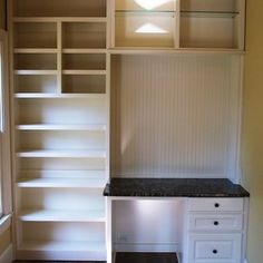 Really like this built-in with the desk. Maybe for Caleb?
