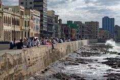 Sur le Malecon, La Havane, Cuba 2015. © Franck Pédersol