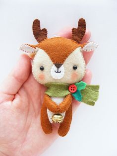 PDF pattern Cute Little Reindeer Felt Christmas by iManuFatti