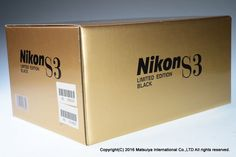 ** LIKE NEW ** NIKON S3 LIMITED EDITION BLACK with NIKKOR-S 50mm f/1.4 #Nikon