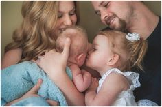 Family with newborn photo