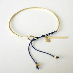 BRASS cuff with Cord
