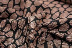 Stoff grafische Muster - Viskose - Copper - ein Designerstück von stoffsalon bei DaWanda