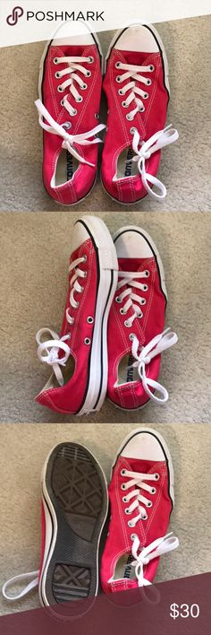 Pink converse Low top converse Converse Shoes Sneakers
